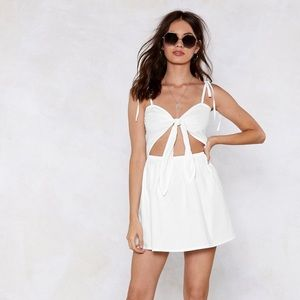 NastyGal White Mini Dress